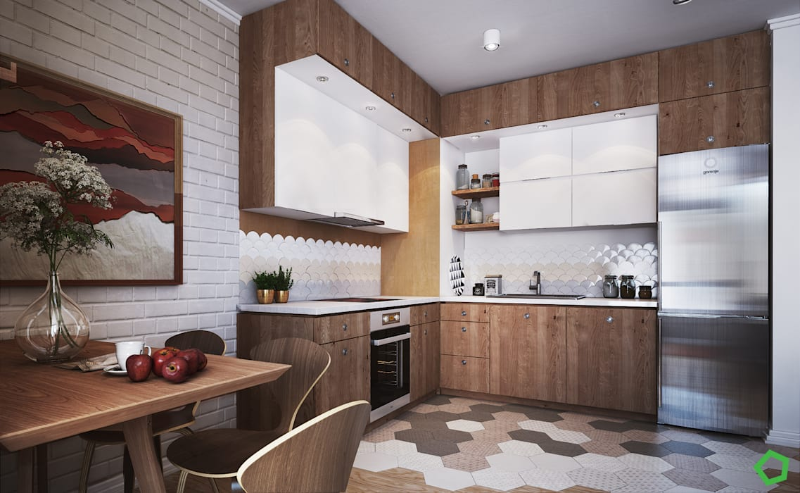Kitchen by Polygon arch&des, Scandinavian