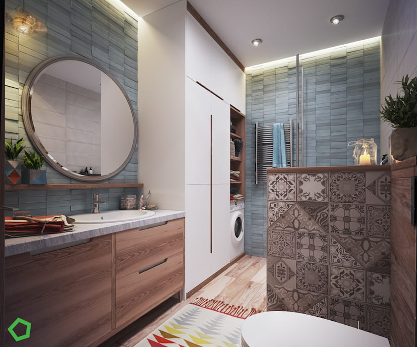 Bathroom by Polygon arch&des, Scandinavian