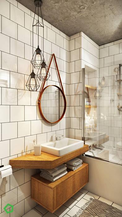 Polygon arch&des Minimalist bathroom