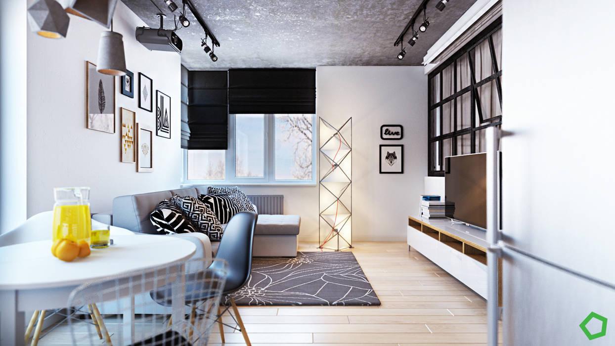 Salas de estar minimalistas por Polygon arch&des Minimalista