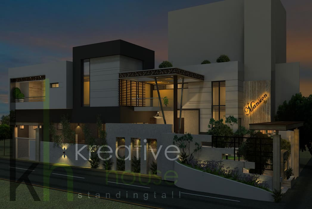 A gorgeous contemporary home with modern twist Modern Houses by KREATIVE HOUSE Modern Engineered Wood Transparent