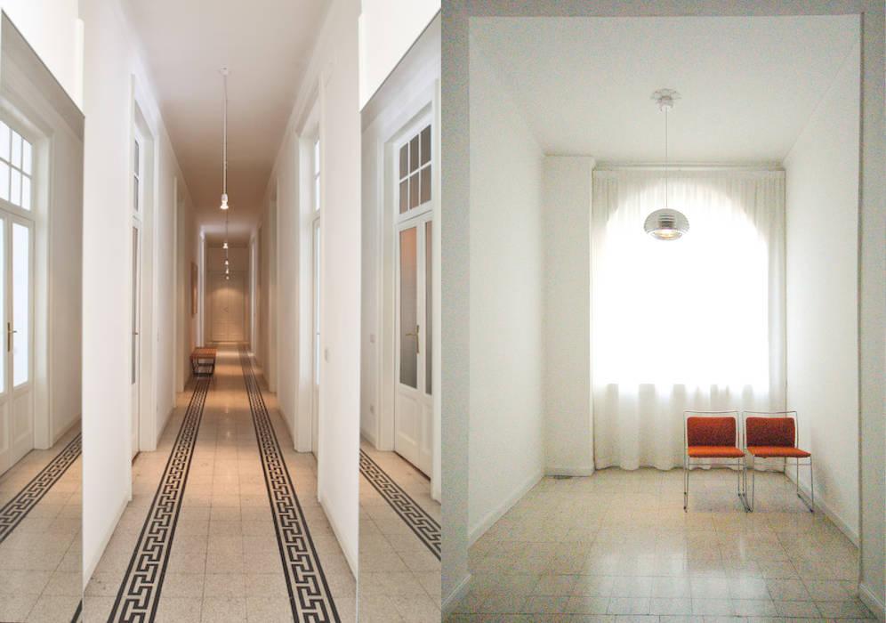 Corredores, halls e escadas ecléticos por Fabio Azzolina Architetto Eclético