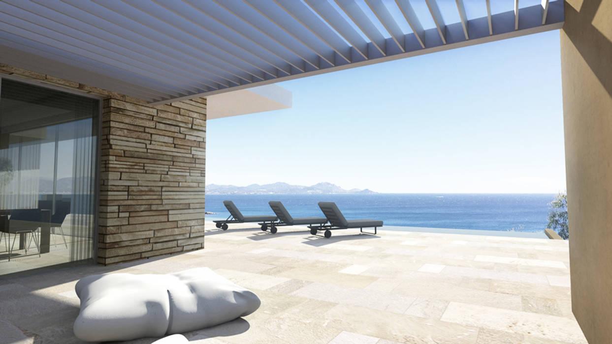 Villa contemporaine: terrasse de style par arrivetz & belle ...