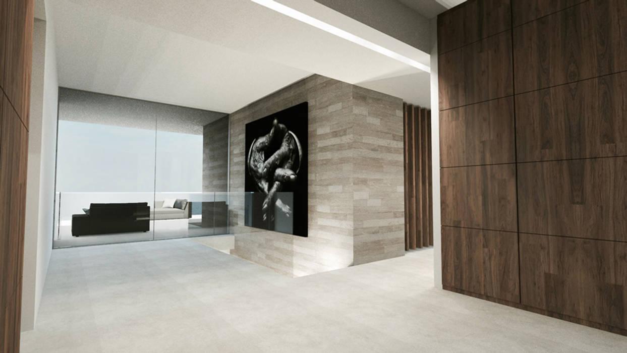 Villa e - saint-tropez: couloir et hall d\'entrée de style ...