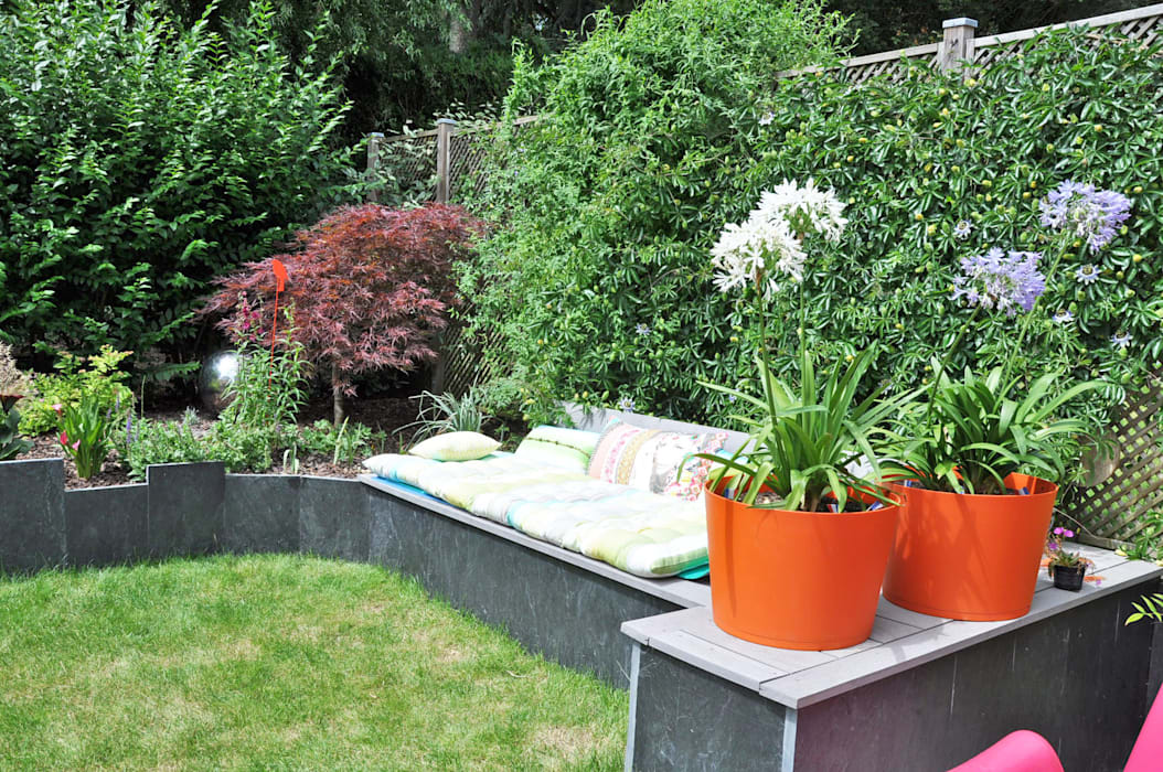 Jardin En Relief: Jardin de style de style Moderne par  Sophie Durin   Empreinte Paysagère