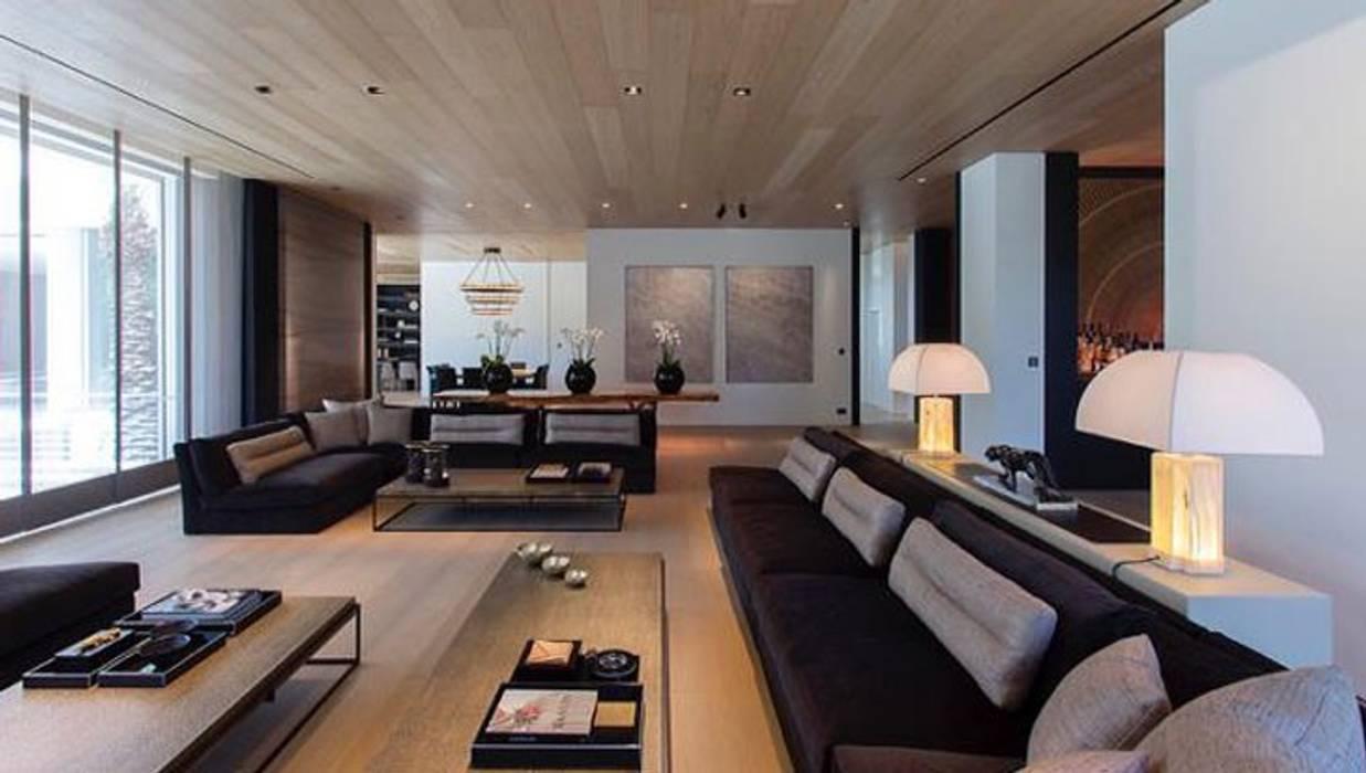 Mohd projects - villa da sogno ad atene soggiorno moderno di ...