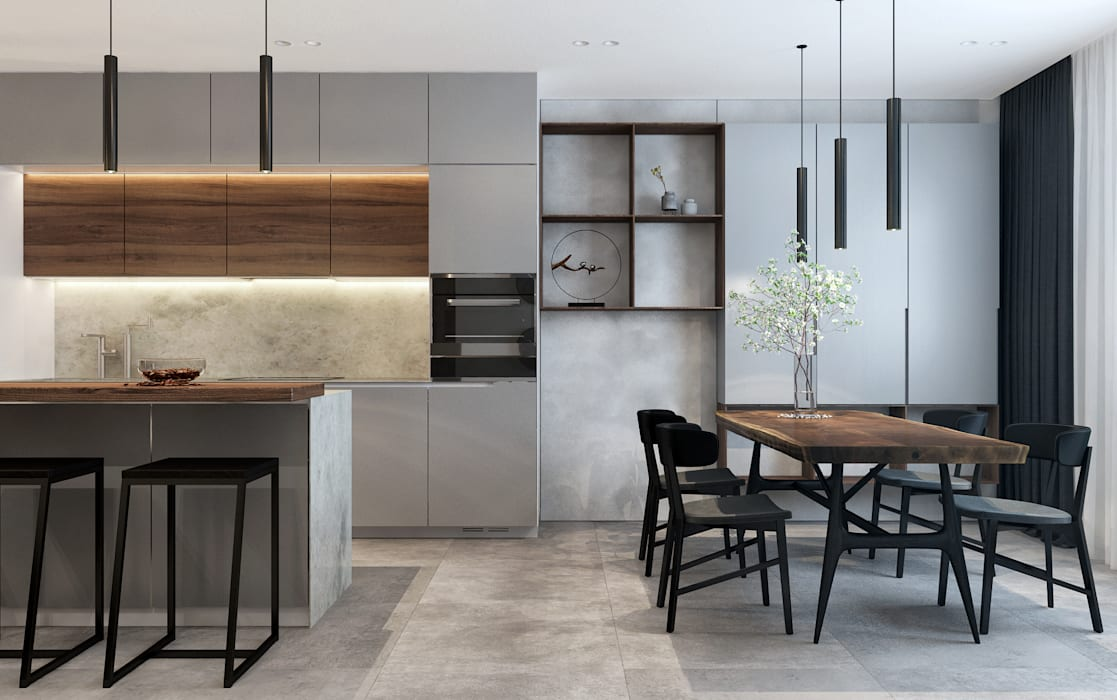 Industrial style kitchen by Zikzak architects Industrial