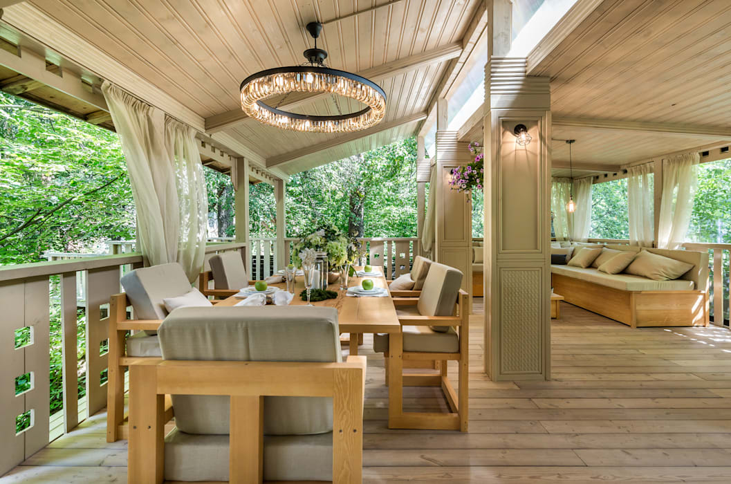 Terrasse von tony house interior design & decoration | homify