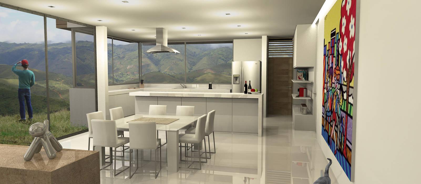 Casa Dapa LM Comedores de estilo moderno de COLECTIVO CREATIVO Moderno