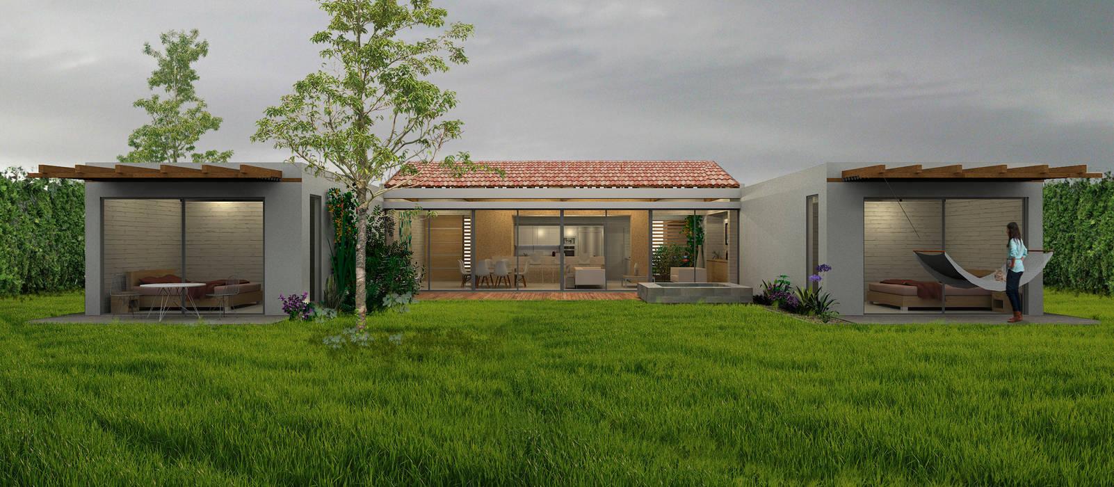Casa La Morada DV: Casas de estilo  por COLECTIVO CREATIVO