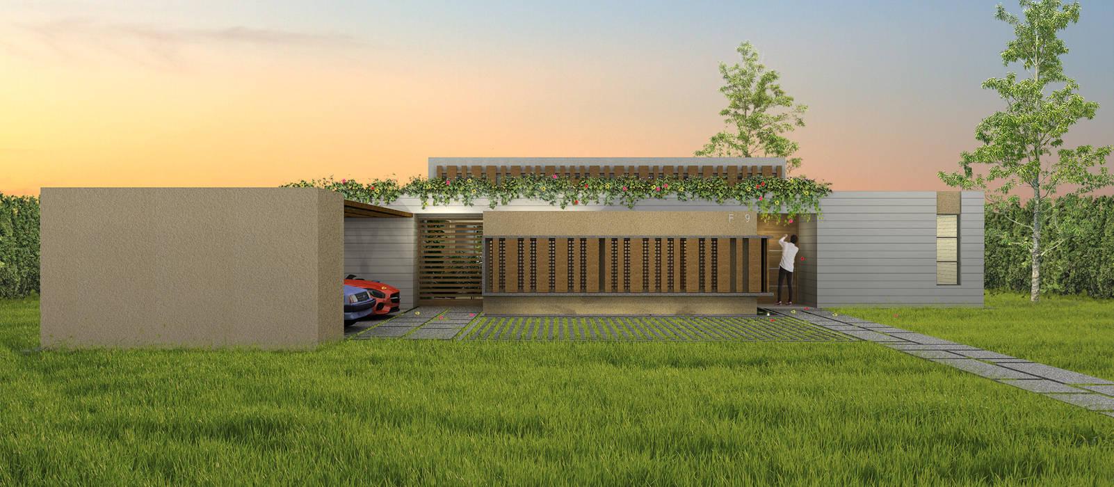 Casa La Morada DV: Casas de estilo  por COLECTIVO CREATIVO, Moderno