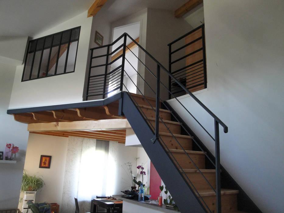 Chambre en mezzanine - après travaux: Chambre de style  par Kauri Architecture