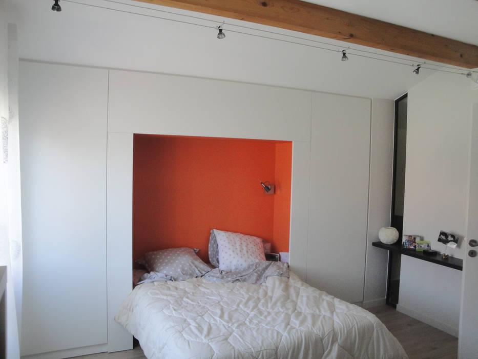 Chambre en mezzanine - après travaux: Chambre de style de style Moderne par Kauri Architecture