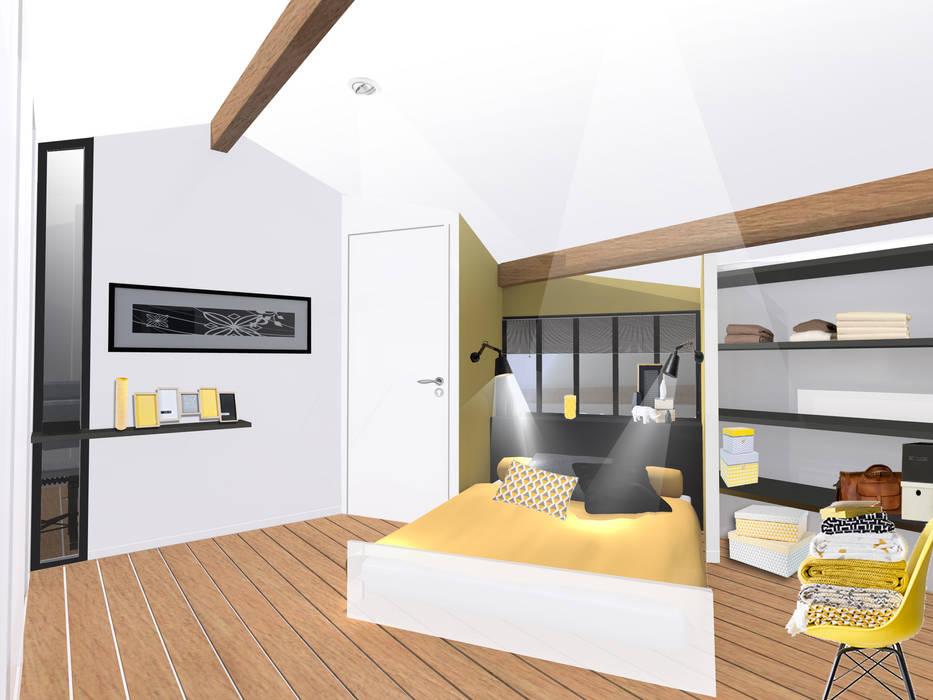 Chambre en mezzanine - esquisse 2 Kauri Architecture Chambre moderne