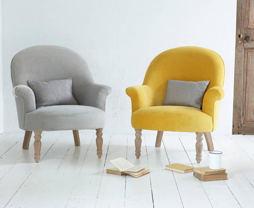 Munchkin armchair: modern  by Loaf, Modern Textile Amber/Gold