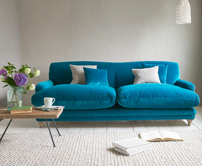 Pudding sofa: modern  by Loaf, Modern Textile Amber/Gold