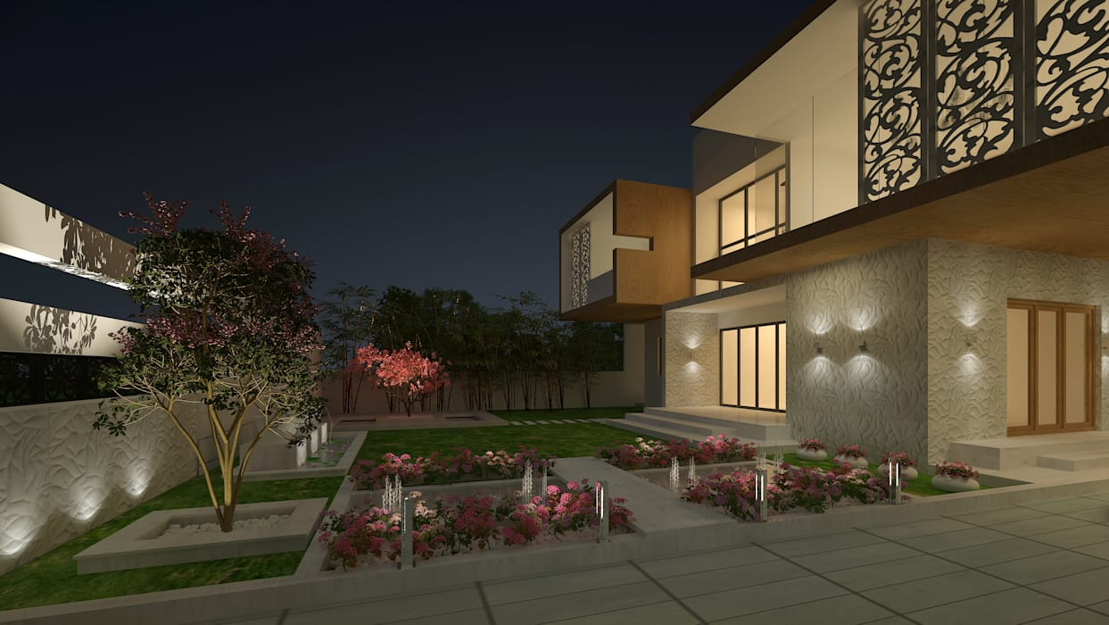 LANDSCAPE AREA VIEW Modern houses by De Panache - Interior Architects Modern