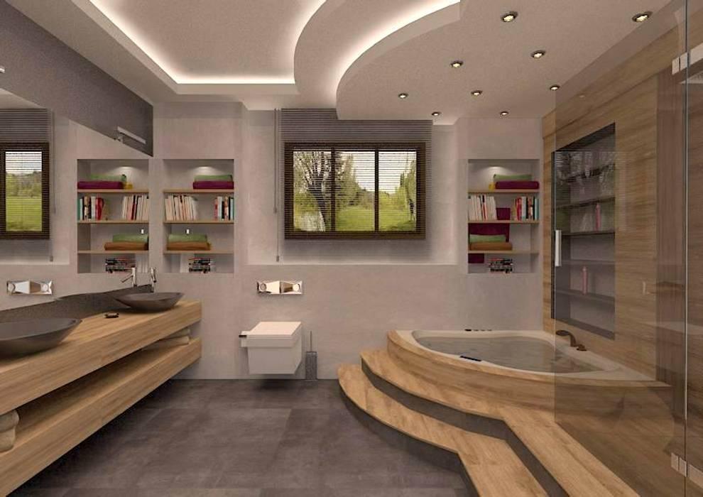 İLKO SİTESİ- ÖRNEK VİLLA Modern Banyo ESA PARK İÇ MİMARLIK Modern