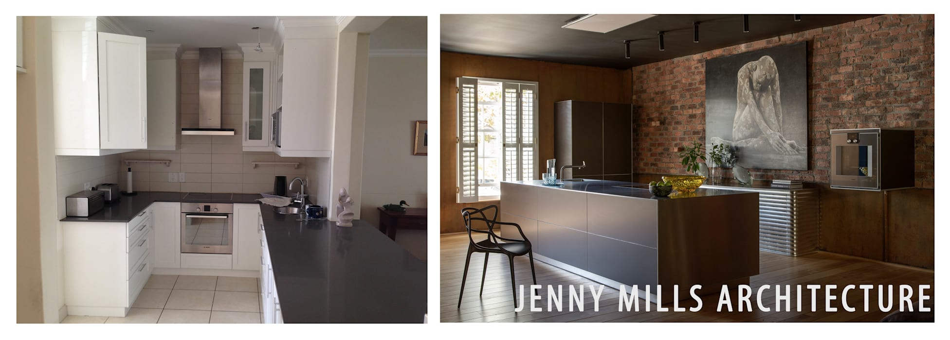 Kitchen Before and After:  Kitchen by Jenny Mills Architects,