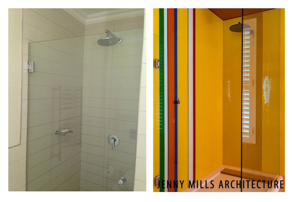 Bathroom 2 - Before and After:  Bathroom by Jenny Mills Architects