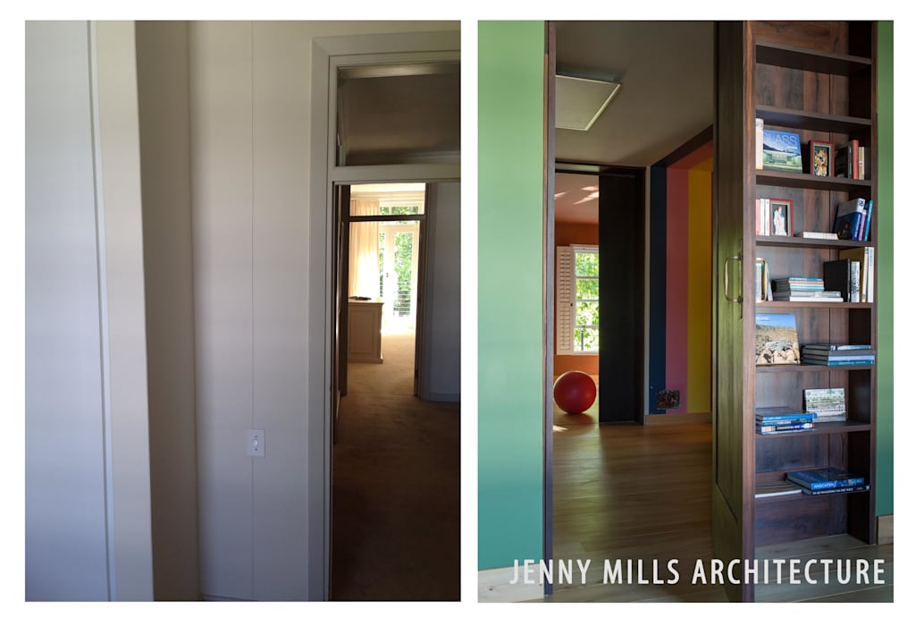 Lobby - Before and After Modern Corridor, Hallway and Staircase by Jenny Mills Architects Modern