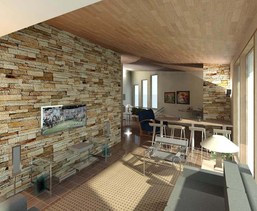 sala de tv: Anexos de estilo  por Diseño Store