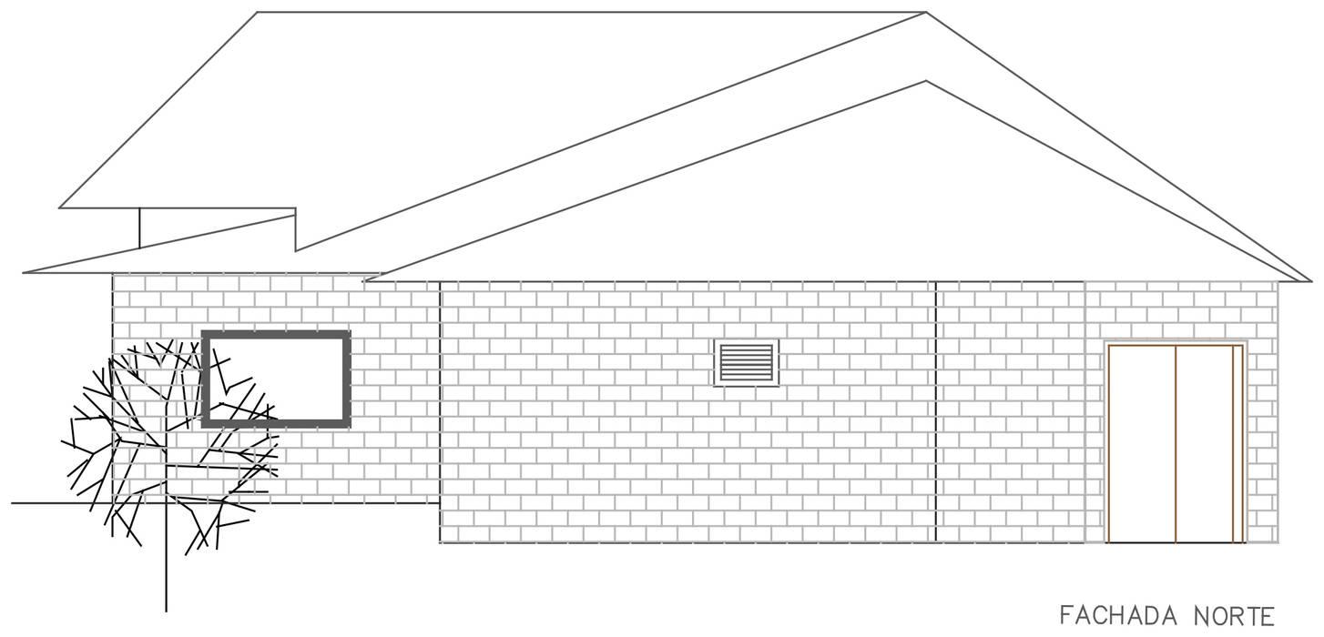 Fachada posterior: Casas de estilo  por Loft estudio C.A., Rural Ladrillos