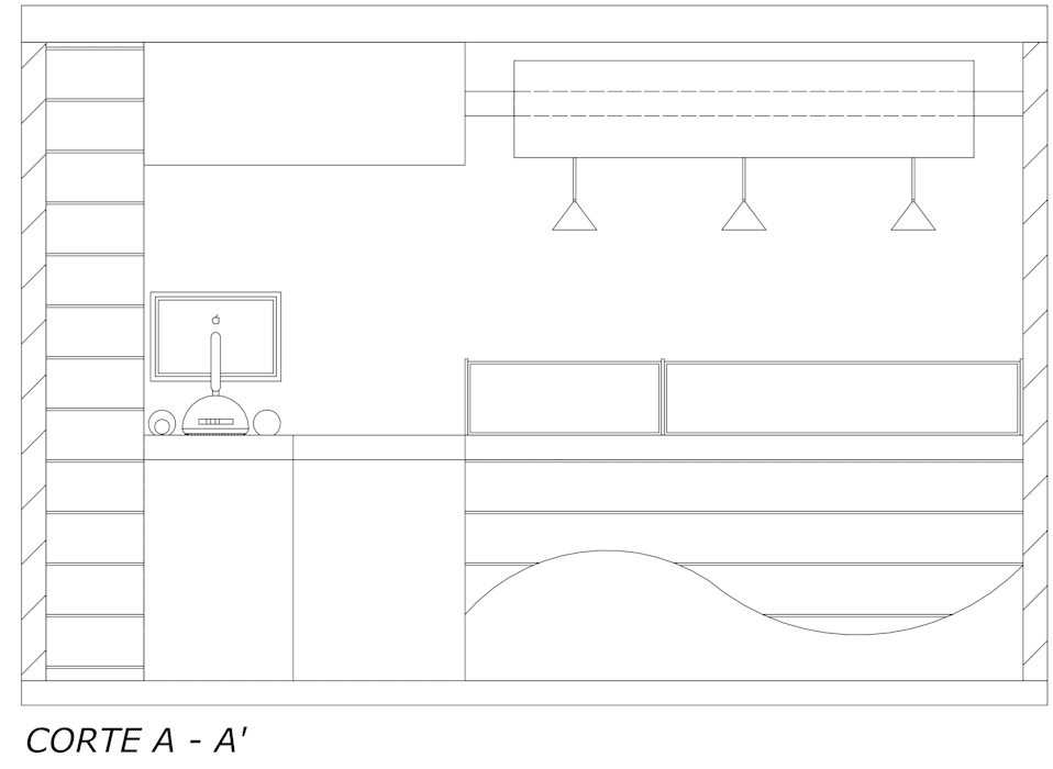 Vista acceso: Espacios comerciales de estilo  por Loft estudio C.A.