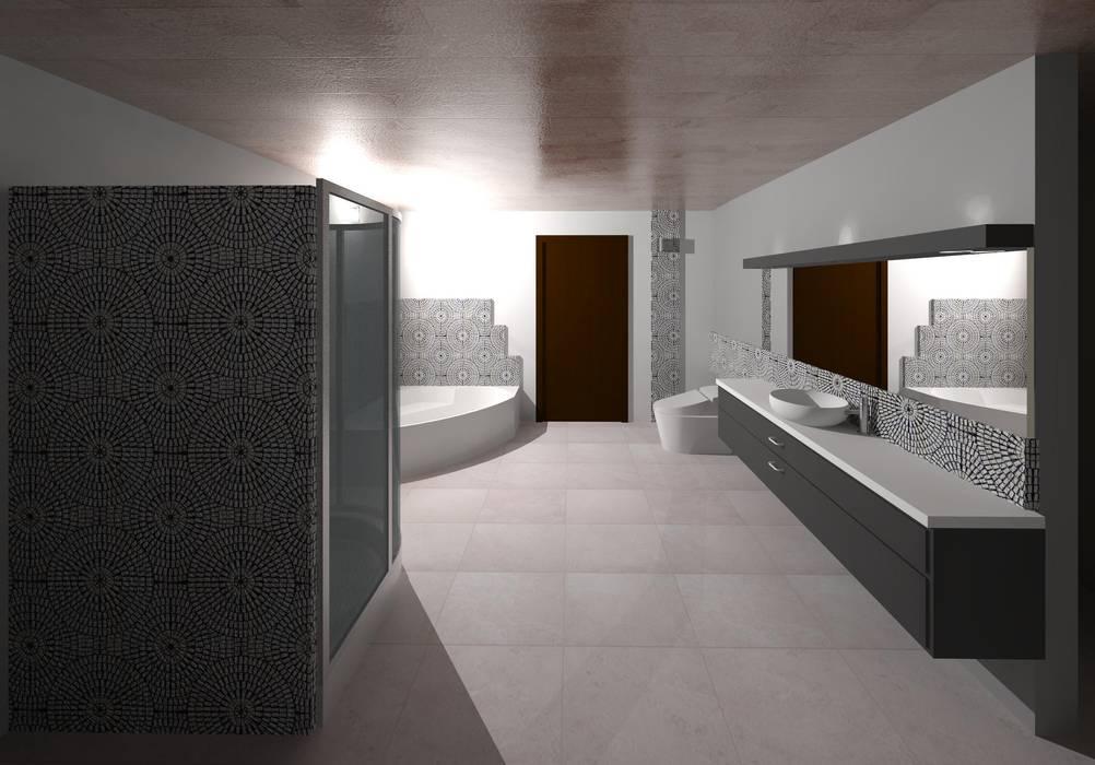 Vista interna de la sala de baño: Baños de estilo  por Diseño Store