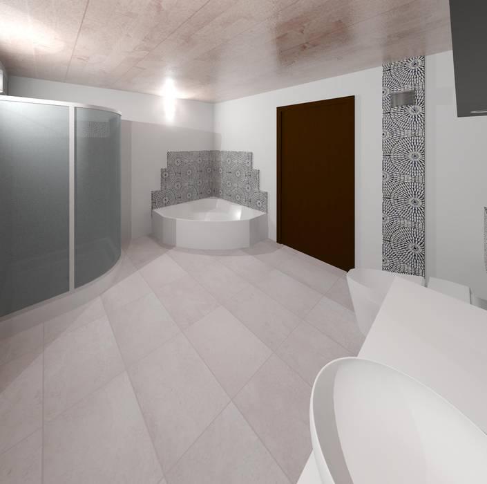 Vista interna sala de baño: Baños de estilo  por Diseño Store