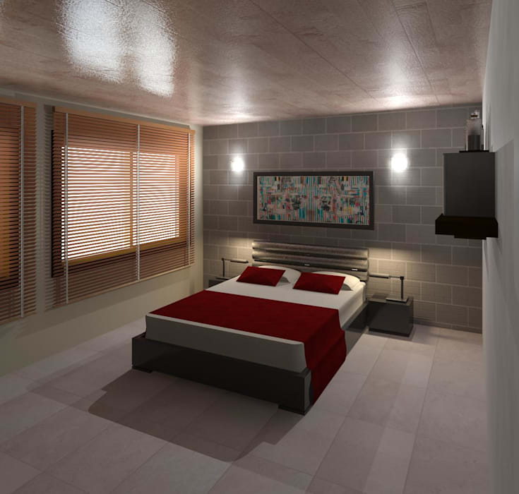 Dormitorio 01 Cuartos de estilo moderno de Diseño Store Moderno