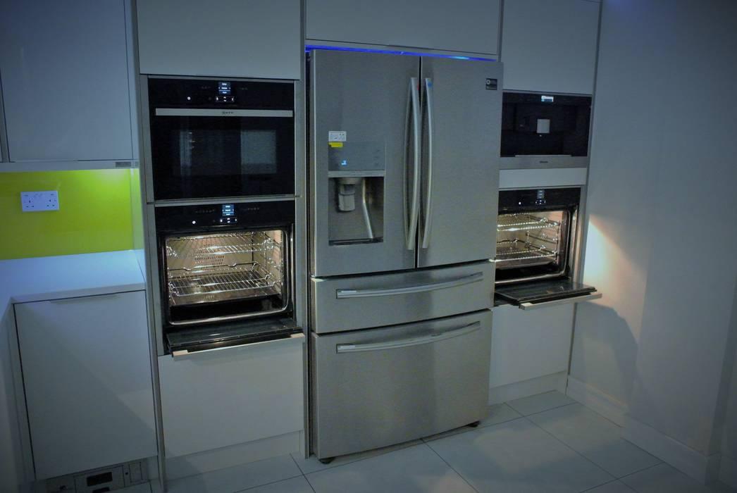 Ultra Gloss White with a splash of summer Glenlith Interiors (Scotland) Ltd KitchenElectronics