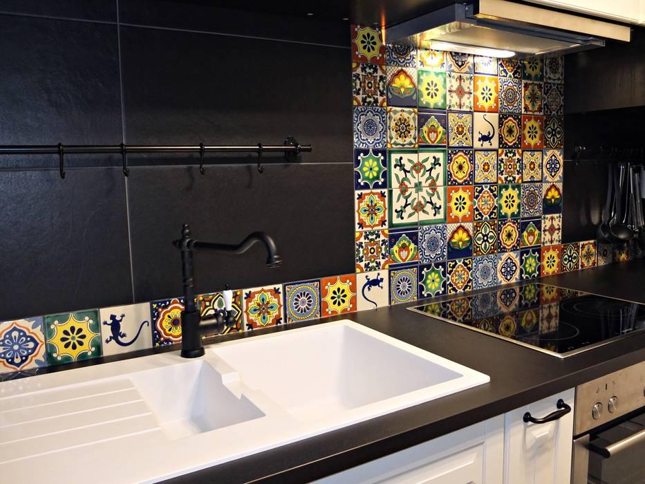 Bunte Fliesen Mit Muster Aus Mexiko Für Die Küche: Küche