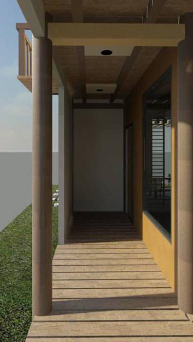 Vista acceso a la vivienda: Casas de estilo  por Loft estudio C.A.