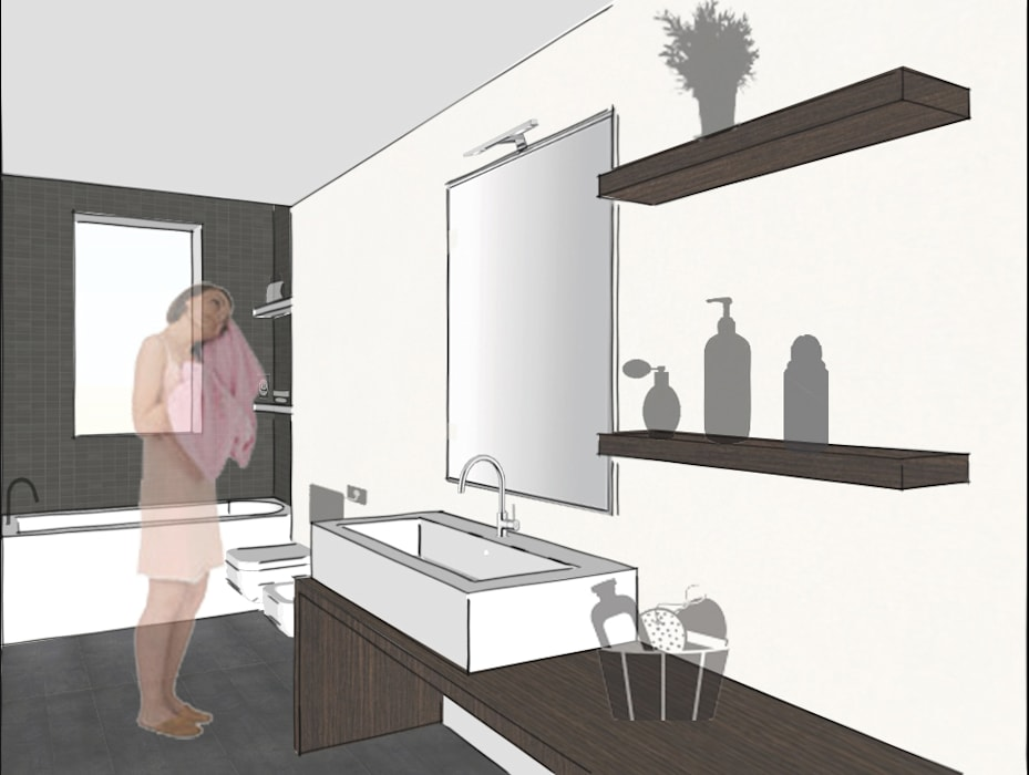 Bagno principale: Bagno in stile in stile Minimalista di Riccardo Cazzaniga Architetto
