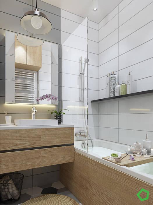 Baños de estilo minimalista de Polygon arch&des Minimalista