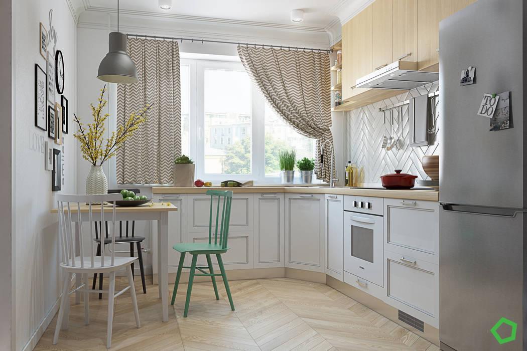Minimalistyczna kuchnia od Polygon arch&des Minimalistyczny
