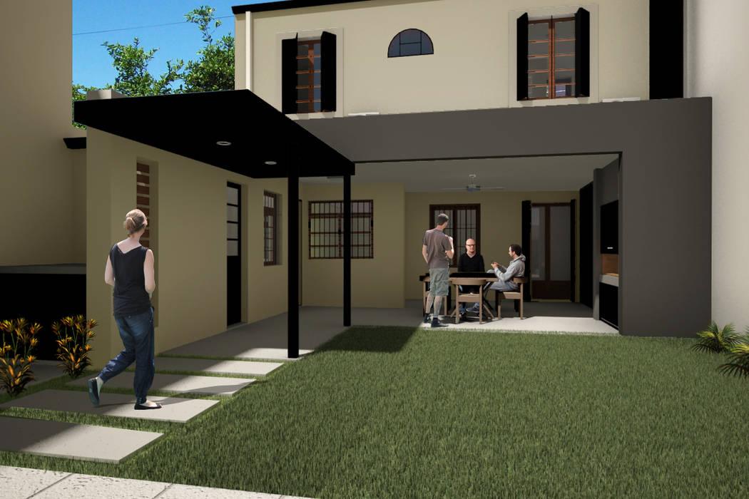 Casa Fh Reforma Patio Casas De Estilo Por D Odorico Oficina De
