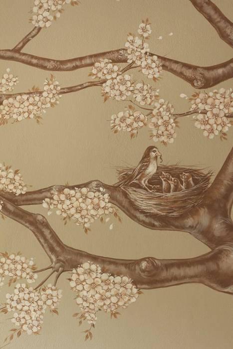 Il giardino dei ciliegi: Bagno in stile  di Vale murales e decorazioni