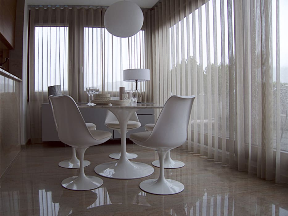 Swiss penthouse, effortless restyling Modern dining room by MD Creative Lab - Architettura & Design Modern