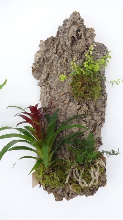 Jardim vertical em cortiça:  tropical por Interior Vivo,Tropical Cortiça