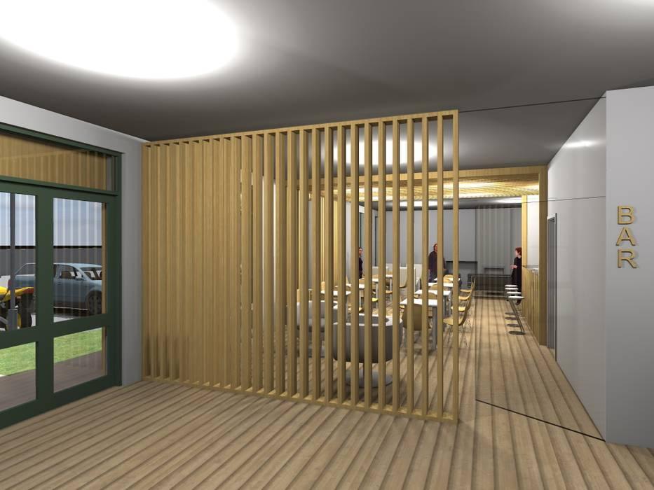 """Restaurante - Bar """"Meet You"""" Espaços de restauração modernos por Traço M - Arquitectura Moderno"""