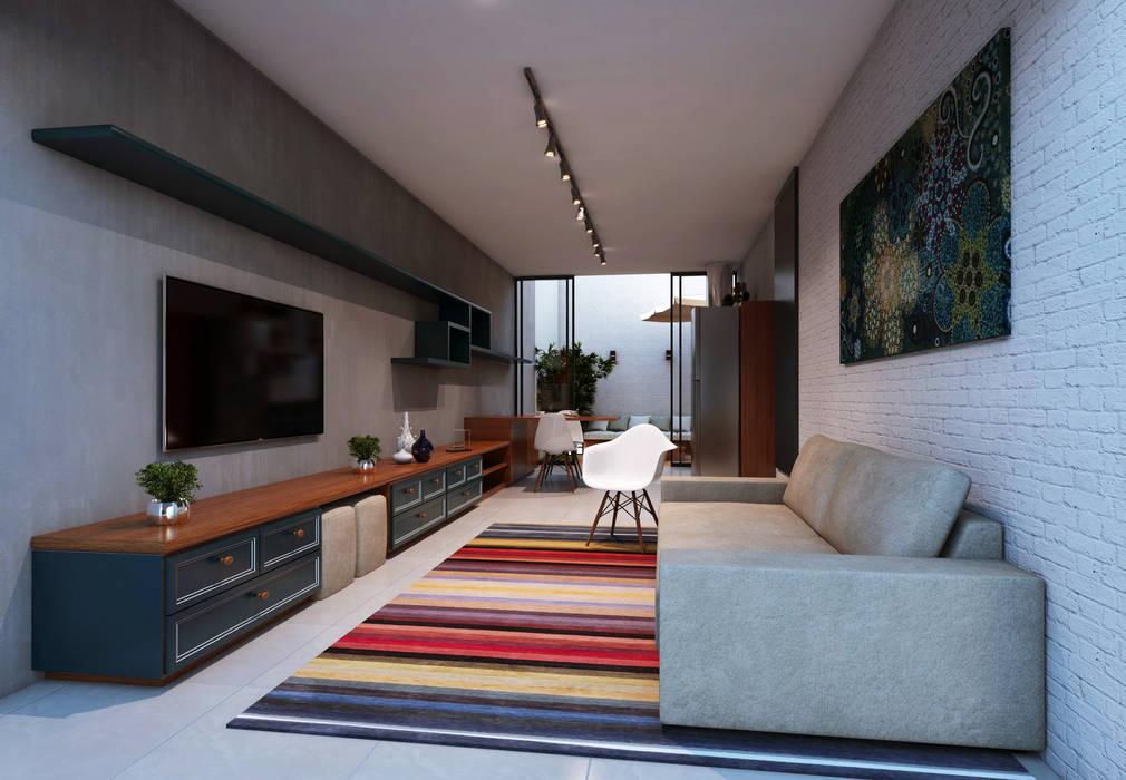Lofts: Salas multimídia  por Lozí - Projeto e Obra