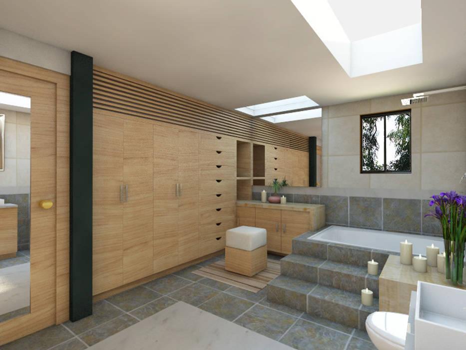Vestidor principal: Vestidores y closets de estilo moderno por Arqternativa