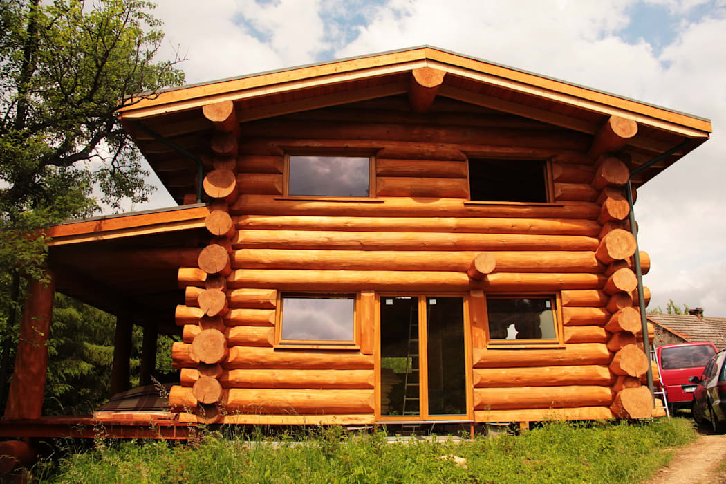 Houses by Organica Design & Build, Rustic Wood Wood effect