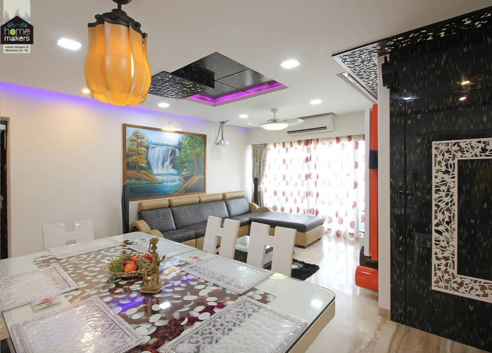 Grand Living Room 2: modern Living room by home makers interior designers & decorators pvt. ltd.