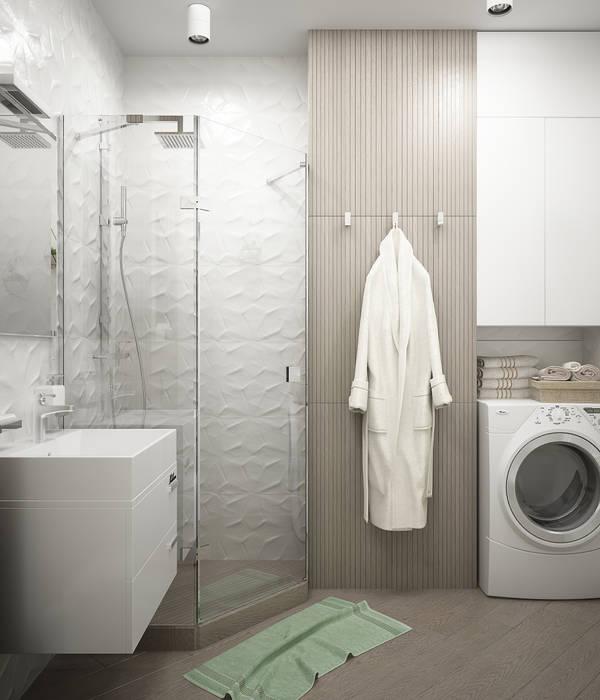 Casas de banho  por Студия дизайна Дарьи Одарюк,