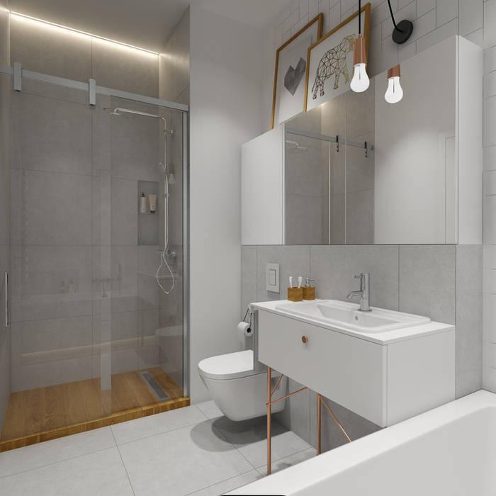 Ванные комнаты в . Автор – INSIDEarch, Скандинавский