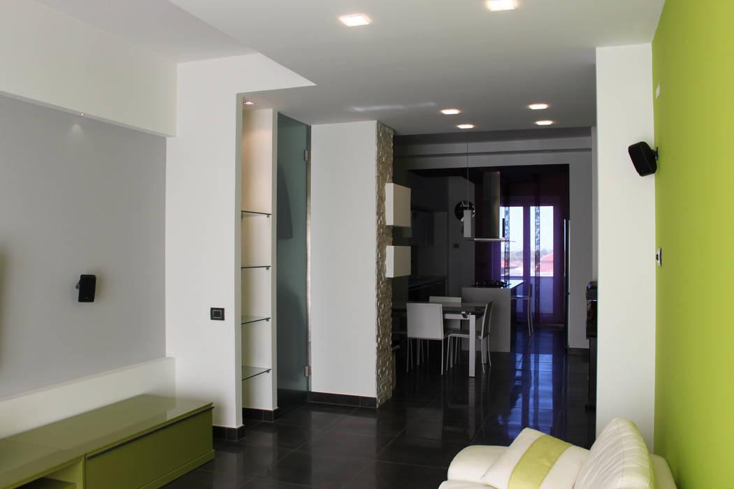 Officina design Modern living room Green