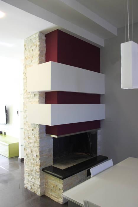 Officina design Modern living room Purple/Violet